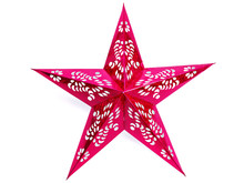 Red Christmas Star Isolated On...