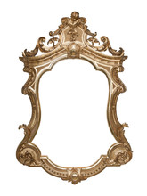 Ornate Vintage Frame With Clipping Path