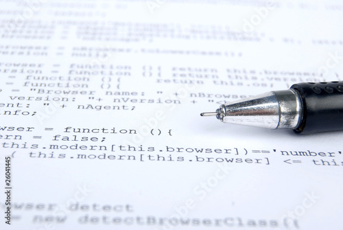 Photo  html code with pen