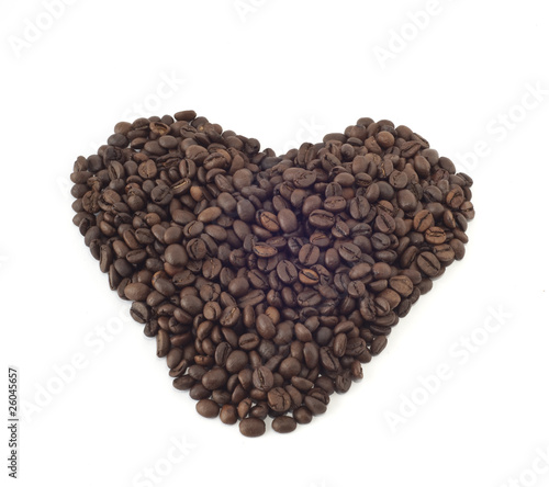 Canvas Prints Coffee beans Heart of coffee