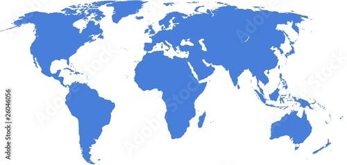 In de dag Wereldkaart Word map