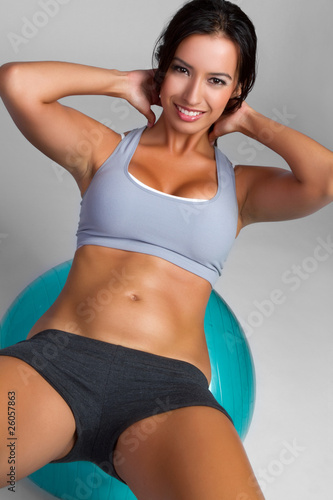 Exercising Woman Fototapeta