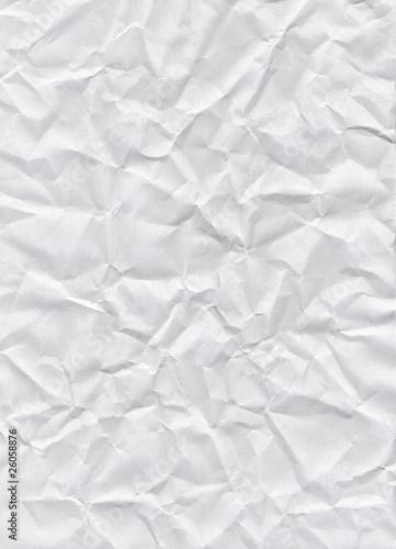 Fotografia, Obraz  Crumpled white paper texture background.