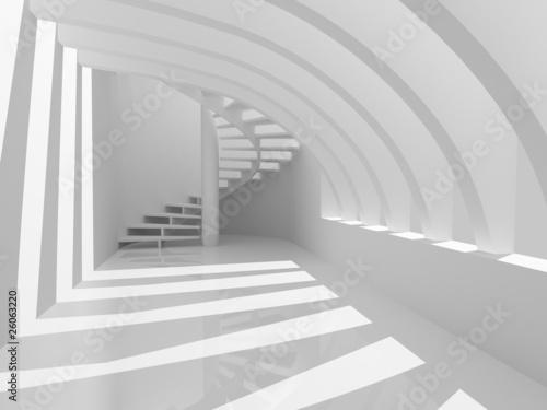 nowoczesna-biala-hala-ze-schodami