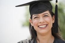 Smiling Hispanic Graduate