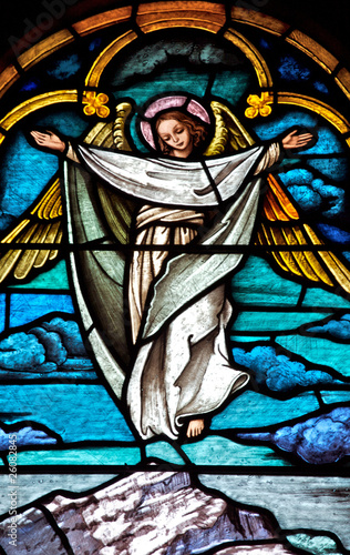 Photo  Stained glass Angel