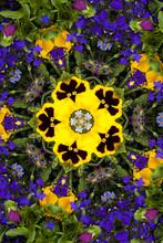 Flower Kaleidoscope Resembling...