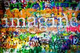 Fototapeta Młodzieżowe - Muro de John Lennon (Praga) - Imagine (Toma 1)