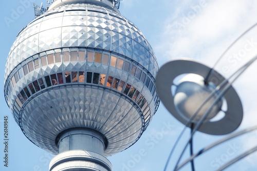 Wall Murals Berlin Fernsehturm und Weltzeituhr