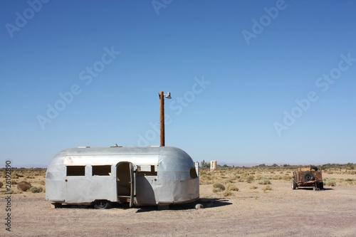 bagdad café, désert de Mojave Billede på lærred