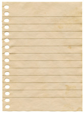 Old Dirty Stained Blank Notepa...
