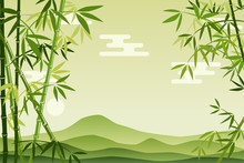 Abstract Green Bamboo Background