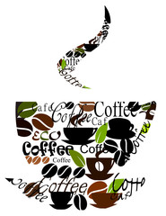 Fototapeta Kawa Original coffee cup design