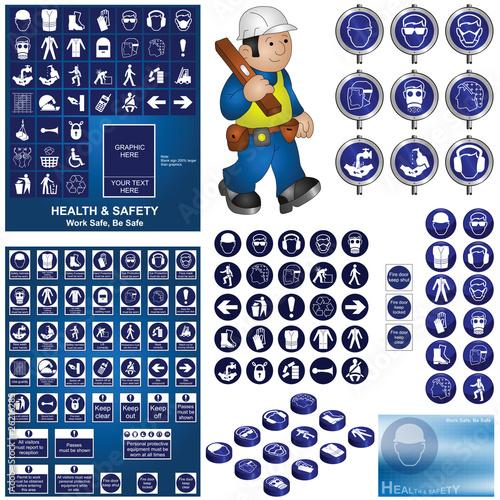 Plakaty BHP budowa-i-budowa-kolekcji-bhp