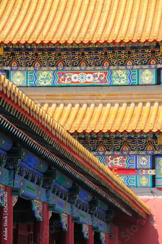 Foto op Aluminium Beijing Fassaden der Verbotenen Stadt no.1