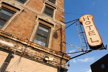 Fototapeta na wymiar Abandoned Hotel