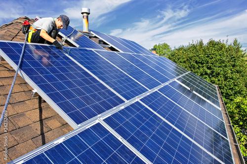 Solar panel installation © Elenathewise