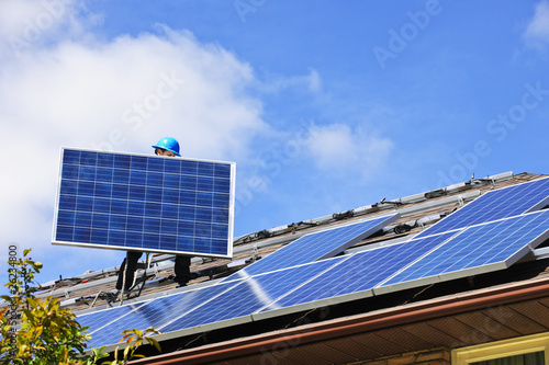 Fotografia  Solar panel installation