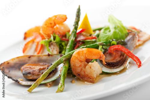 Staande foto Klaar gerecht Seafood Plate