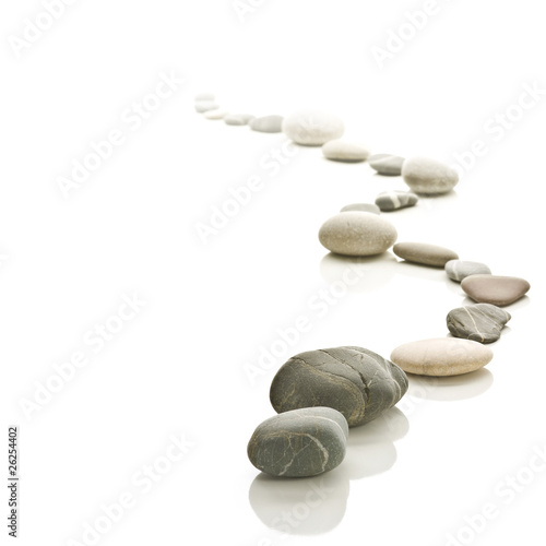 Stone path arranged to a zigzag.