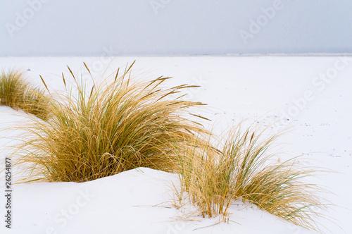 Foto-Schiebegardine Komplettsystem - Weihnachten an der Nordsee, Winterlandschaft