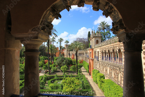 Gardens of Alcazar, Seville, Spain Wallpaper Mural