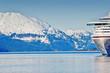 Leinwandbild Motiv A cruise ship in Alaska