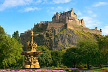 Edinburgh Castle, Scotland, Wi...