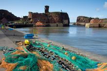 Dunbar Harbour And Dunbar Cast...