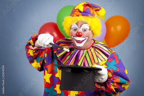 Carta da parati Birthday Clown Magic Show