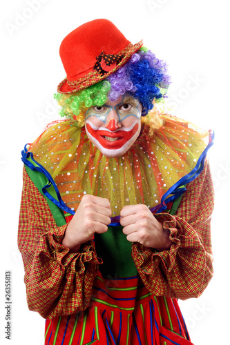 Printed kitchen splashbacks Indians Portrait of an anger clown