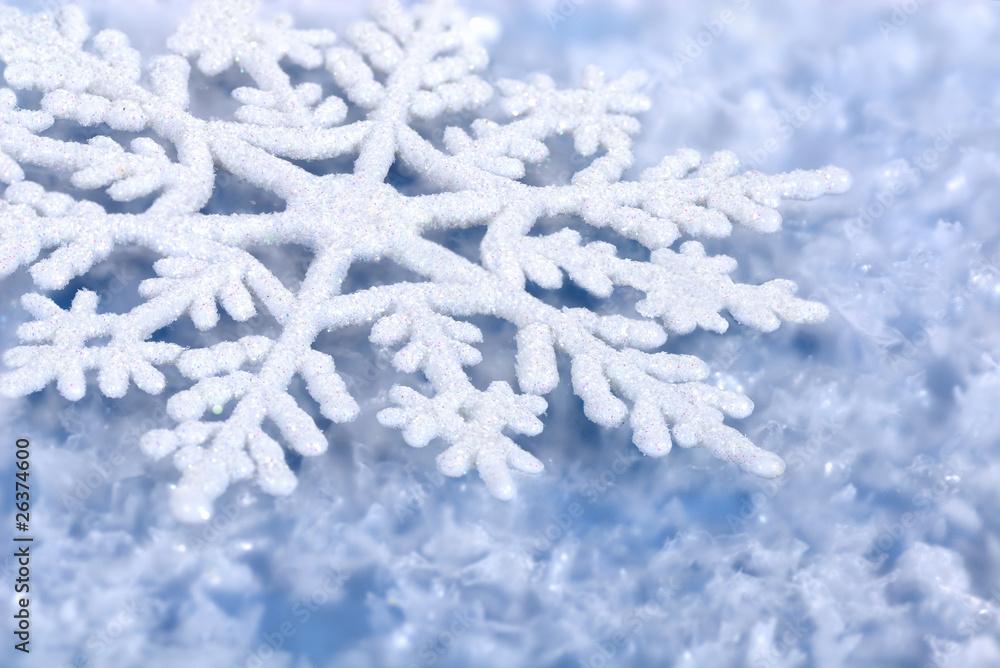 Foto-Doppelrollo - Blauer winterlicher Hintergrund