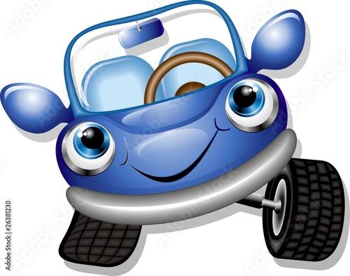 Photo sur Aluminium Draw Automobile Cartoon-Baby Car-Vector