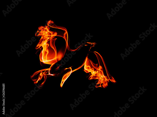 Photo phoenix, symbolizing rebirth, immortality, renewal