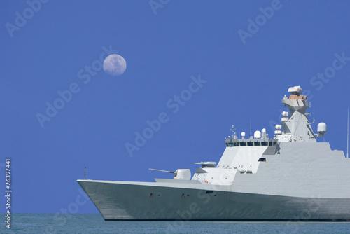 Fotomural Fregate is on sea patrole.