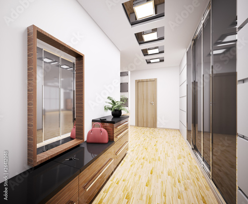 Foto  Modern Flur interior 3d