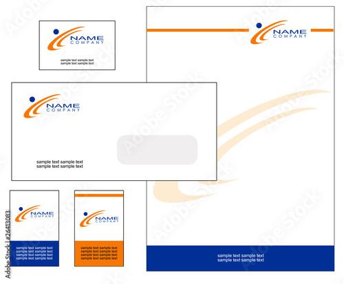 Photo Kit carta intestata blu arancio 2