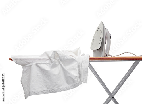 Fotografía ironing clothes housework equipment