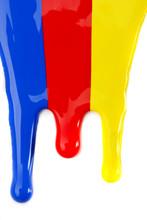 Farbtropfen - Blau, Rot, Gelb