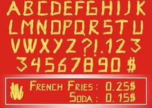 French Fries Alphabet