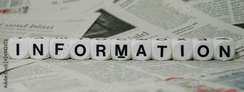 Fototapeta Information, mit Zeitungshintergrund obraz