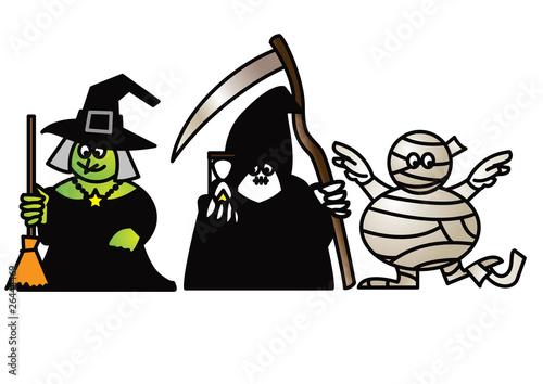 Poster de jardin Chambre bébé vector caricatures goofy goblins 2