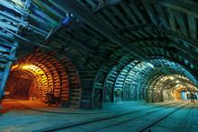Corridor In A Historical Mine ...