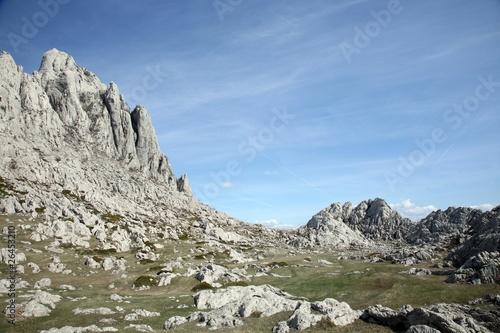 Fotografie, Obraz  Cliff on mountain Velebit - Croatia