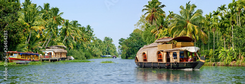 Photo backwaters du kerala