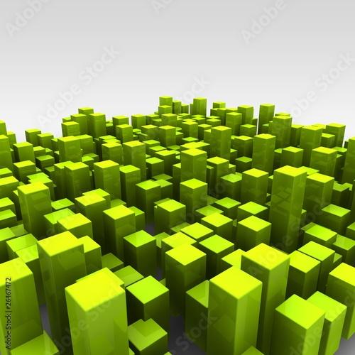 Zdjęcie XXL cubes random green