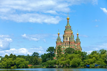 Russia,Peterhof And The Church Of St.Peter And Paul Church..