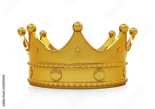 Photo Golden crown - front view