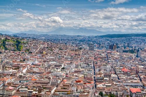 Fotografia  Blick auf Quito vom Panecillo-Hügel