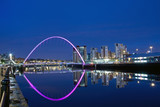 Gateshead Millenium Bridge at Night